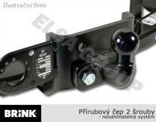 Ťažné zariadenie Fiat Doblo II / Cargo 2010-2018, přírubový čep 2 šrouby, BRINK
