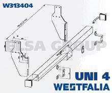 Zábrana podjazdu pre ťažné zariadenie UNI 4