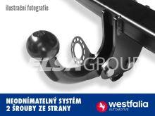 Ťažné zariadenie Audi A3 Cabrio 03/14 - 05/16, pevný čep 2 šrouby, Westfalia