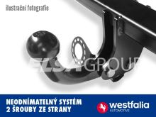 Ťažné zariadenie BMW 1-serie HB 2014/03- (F21/F20), pevný čep 2 šrouby, Westfalia