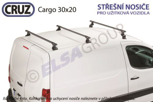 Strešný nosič Citroen Berlingo / Peugeot Partner - 3 priečniky